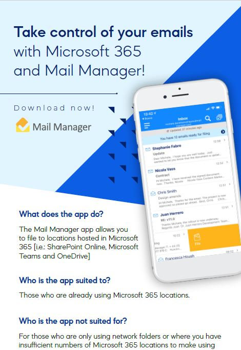 Take control of your email with Mail Manager 365 Mobi